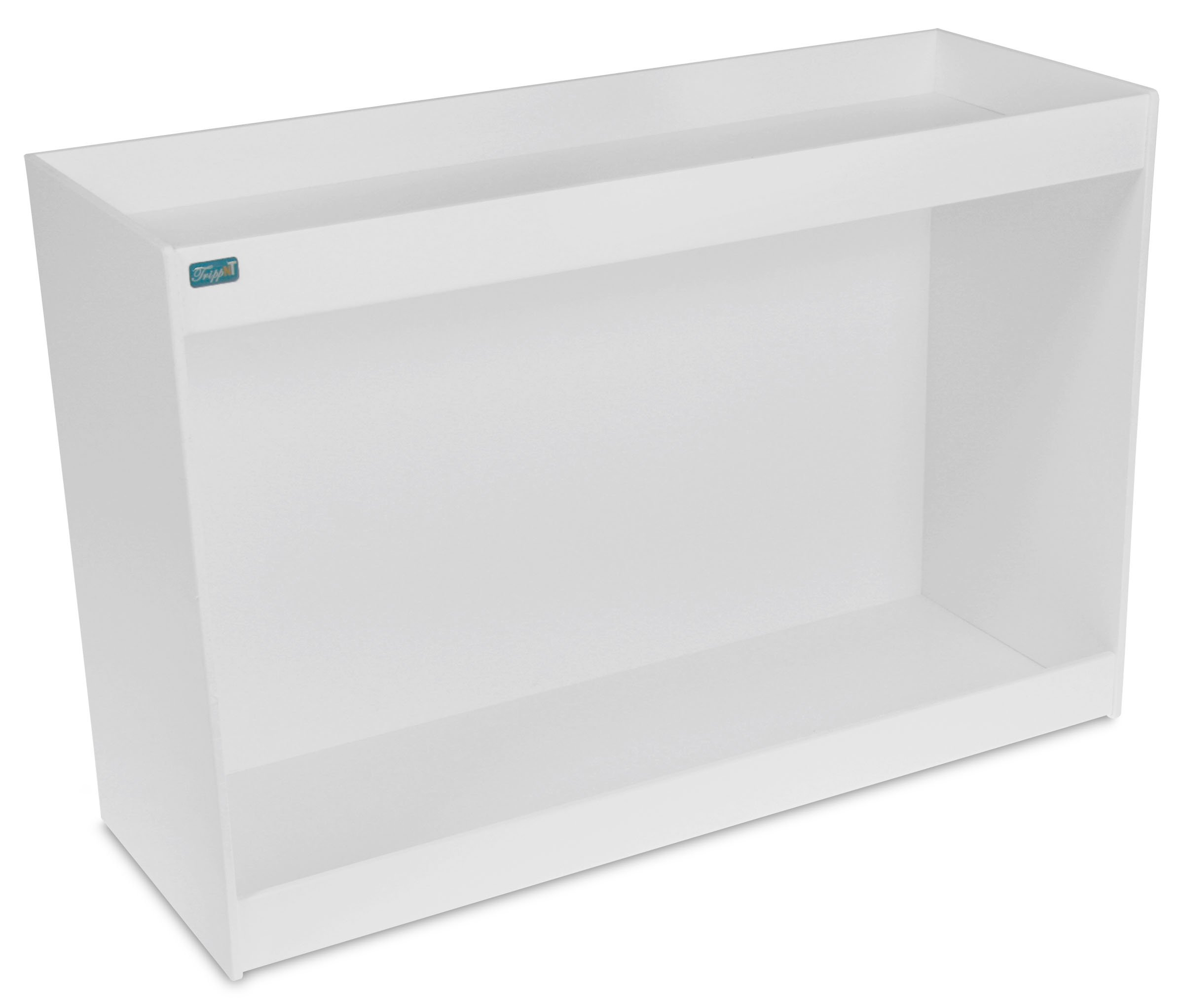 TrippNT 50178 PVC Straight Double Safety Shelves, 24'' Width x 16'' Height x 9'' Depth, White