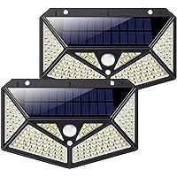Luz Solar Exterior 150 LED, kilponen [Versión Innovadora 2200mAh] Foco Solar Potente con Sensor de Movimiento y 3 Modos…