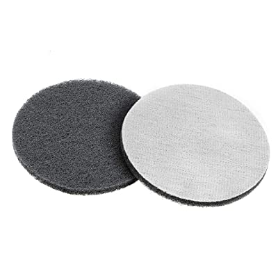 uxcell 5 Inch 1000 Grit Drill Power Brush Tile Scrubber Scouring Pads Cleaning Tool 2pcs: Home Improvement