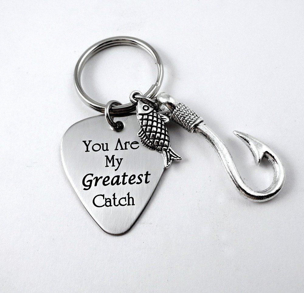 You're My Greatest Catch Keychain