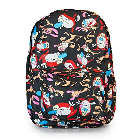 Loungefly Ren Stimpy Backpack Black Multi