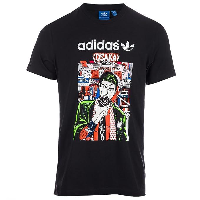 Amazon.com  adidas Originals Men s Artist City Life Osaka Tshirt XS ... 2d5154b0c1