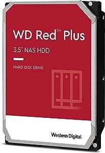 Western Digital 14TB WD Red Plus NAS Internal Hard Drive - 5400 RPM Class, SATA 6 Gb/s, CMR, 512 MB Cache, 3.5