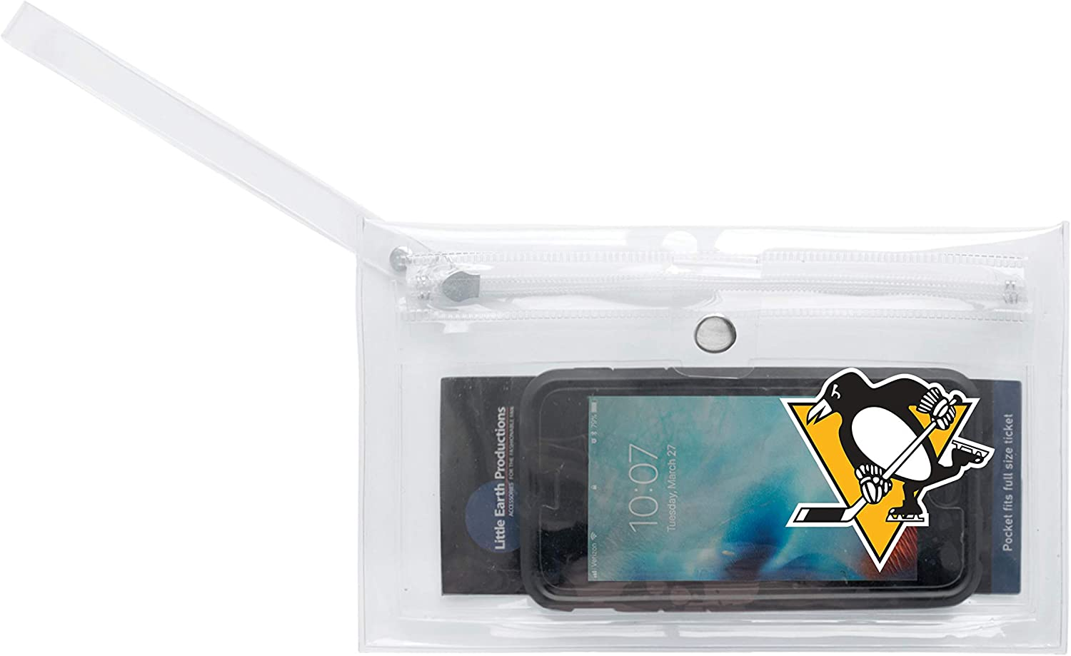 Littlearth NHL unisex Nhl Clear Ticket Wristlet