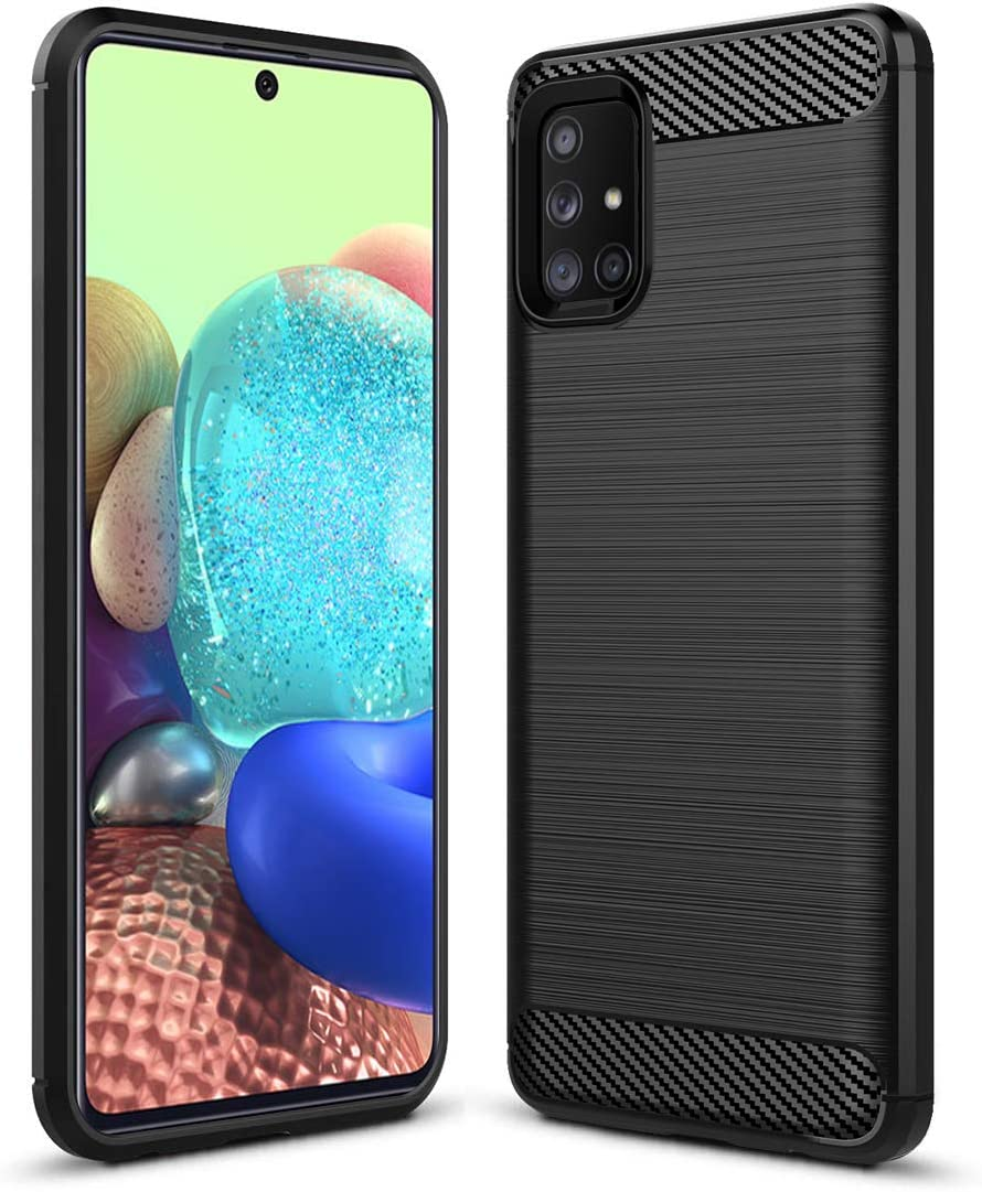 Amazon Com Sucnakp Samsung A71 5g Case Not Fit A71 5g Uw Verizon Galaxy A71 5g Case Tpu Shock Absorption Technology Raised Bezels Protective For Samsung Galaxy A71 5g Tpu Black Electronics