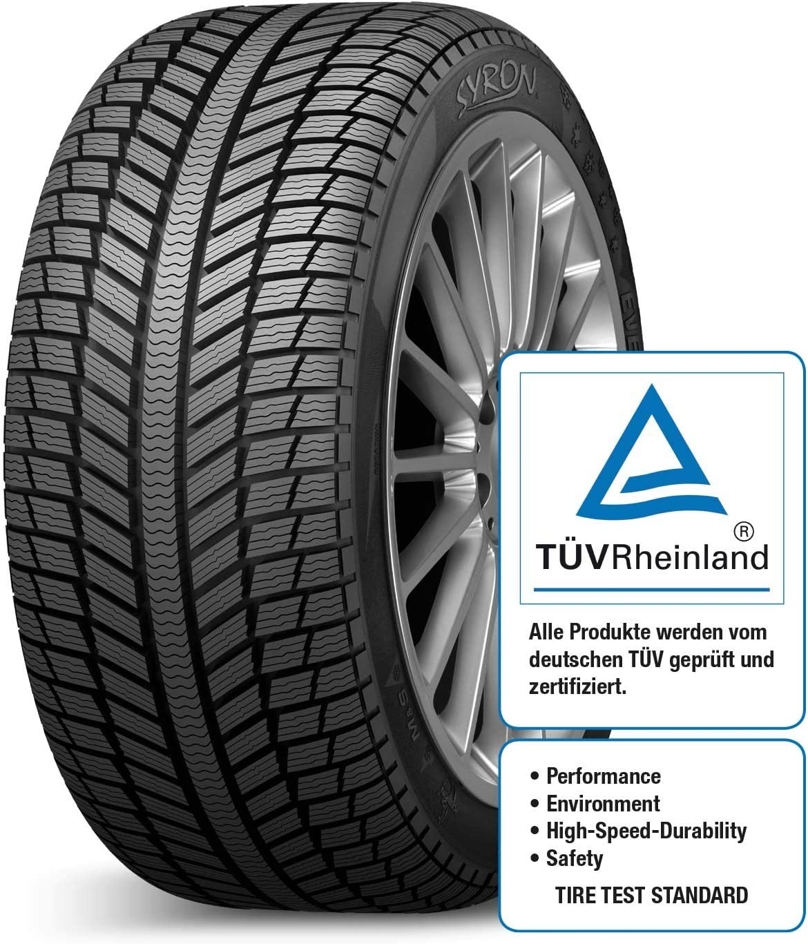 SYRON Tires EVEREST1 Plus XL 225//45//17 94 V E//B//72Db Winter PKW
