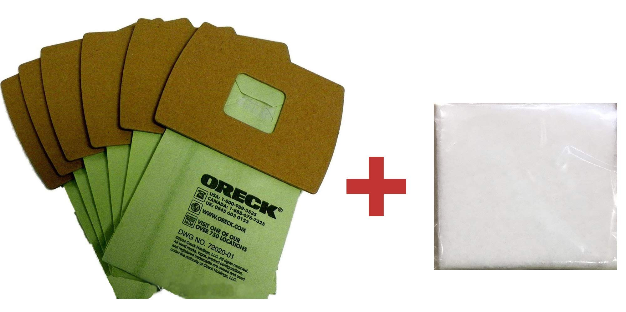 Genuine Oreck XL Buster B Canister Vacuum Bags PKBB12DW Housekeeper Bag 6 Pack