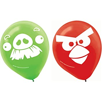 Amazoncom Angry Birds Latex Balloons 6 Party Accessory by Amscan