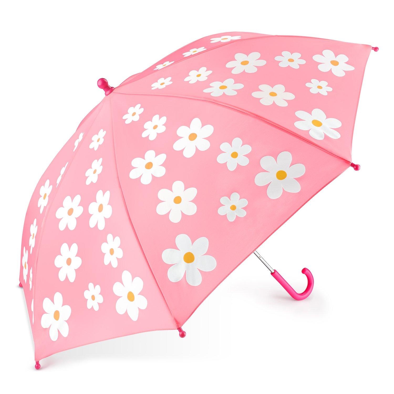 ParapluieEnfant, OMOTONParapluieCanne de Couleur Changé Magique pour Filles et Garçons CadeauIdéal Rose