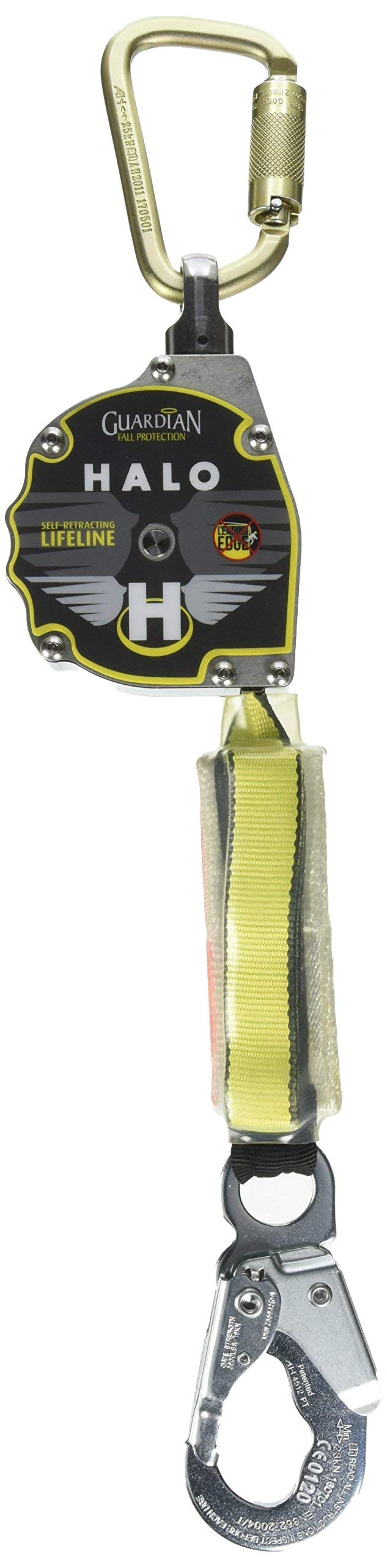 Guardian Fall Protection 10900 11-Foot 1-Inch Nylon Webbing with Carabineer (Renewed) by Guardian Fall Protection