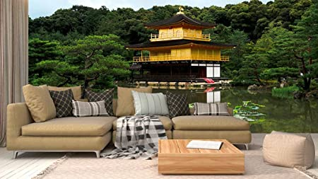 Fotomural Vinilo Pared Jardín japones | Varias Medidas 200x150cm | Ideal para la decoración de comedores, Salones | Motivos Paisajisticos | Urbes, Naturaleza, Arte Diseño Elegante: Amazon.es: Hogar