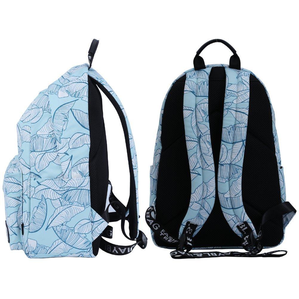 Feuilles Bleues Mocha weir JIAYBL Portable Sac /à Dos Universit/é /épaules Sacs /école Enfants Livre Sacs Filles Toile Voyage Sac /à Dos