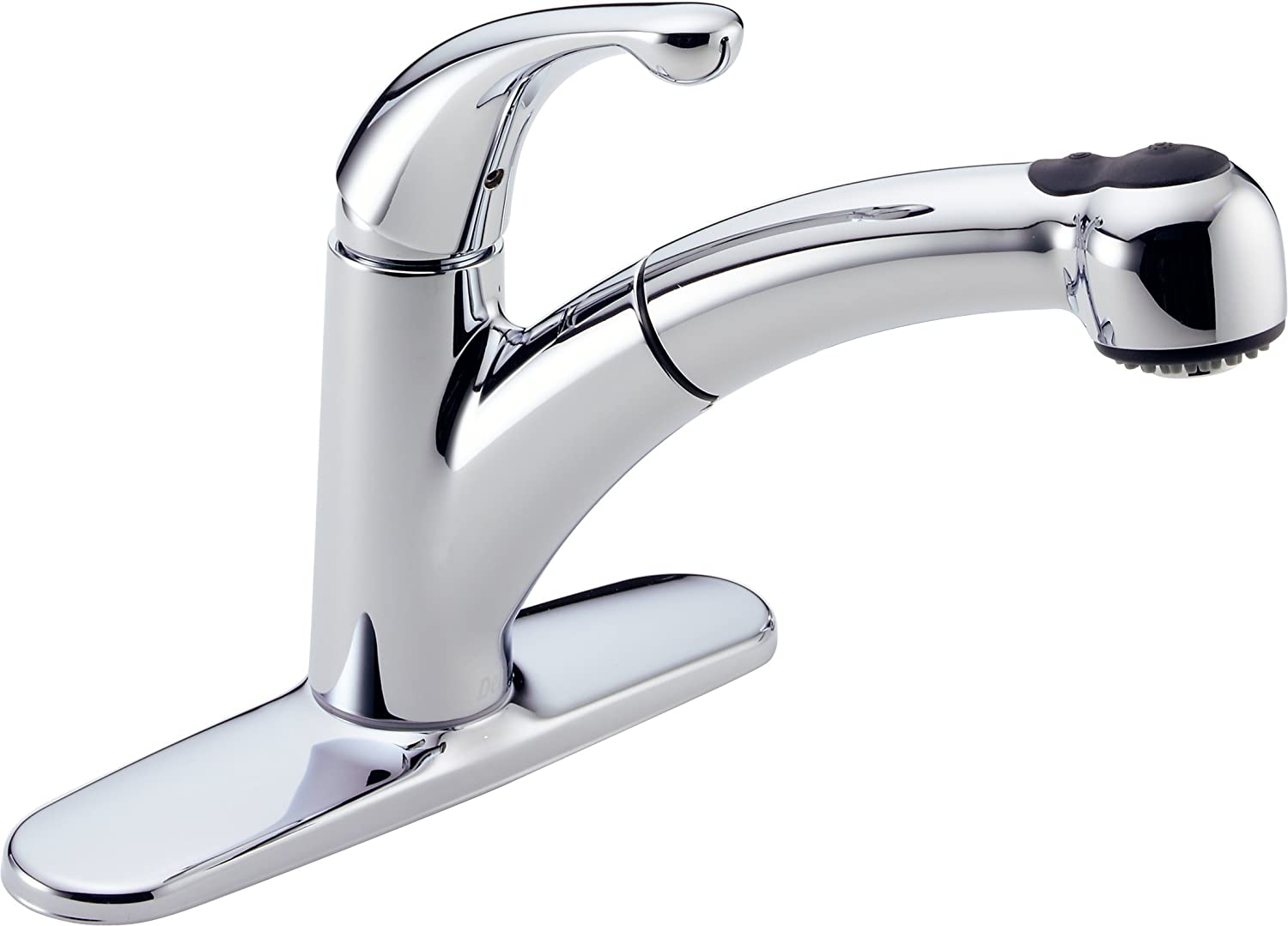 Delta 467-DST Palo Single Handle Pull-Out Kitchen Faucet, Chrome ...