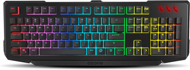 Pack Gaming Ozone Gaming Double Tap - Combo Gaming Teclado + Raton - Teclado Gaming Semi-Mecánico Retroiluminado RGB, Ratón Gaming con Sensor Optico ...
