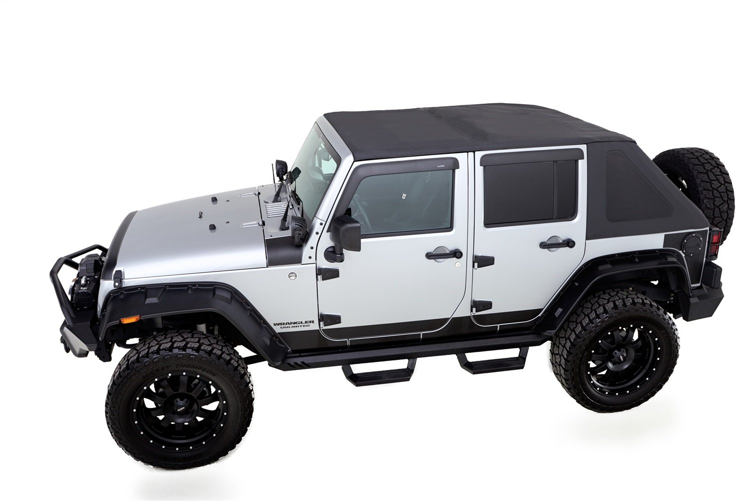 Amazon.com: Rampage Products 139935 TrailView Fold-Back Soft Top, for  2007-2018 Jeep Wrangler JK 2-Door, Black Diamond Sailcloth w/Tinted  Windows: ...