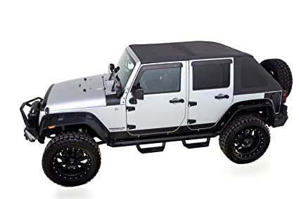 Jeep Wrangler Soft Top >> Amazon Com Rampage Products 139935 Trailview Fold Back Soft Top