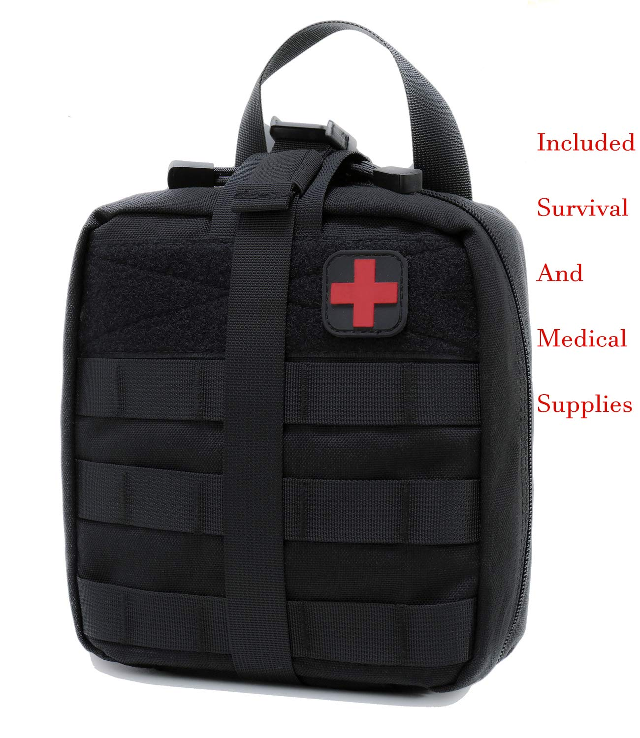 Carlebben Survival Medical Kit First Aid Kit Trauma Kit EMT Pouch Molle Ifak Black