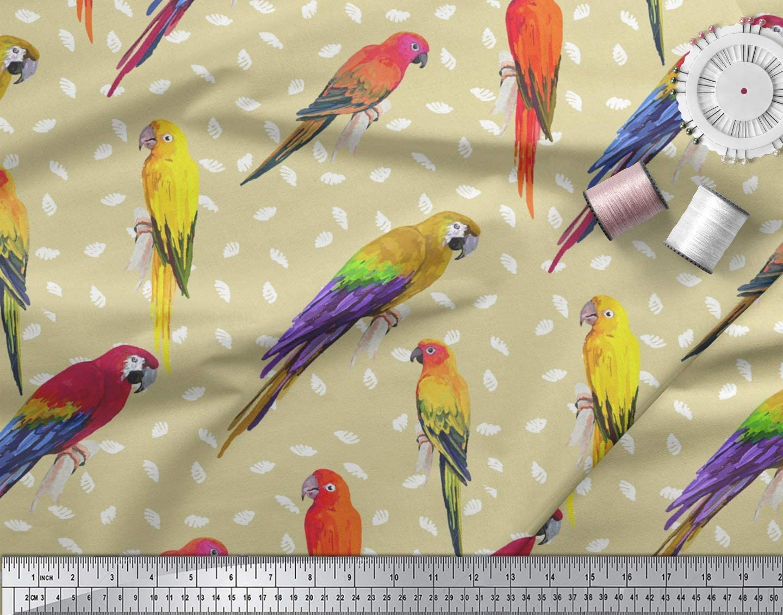 0,5 m Organic Cotton  Poplin Bird with crown 145 cm w GOTS