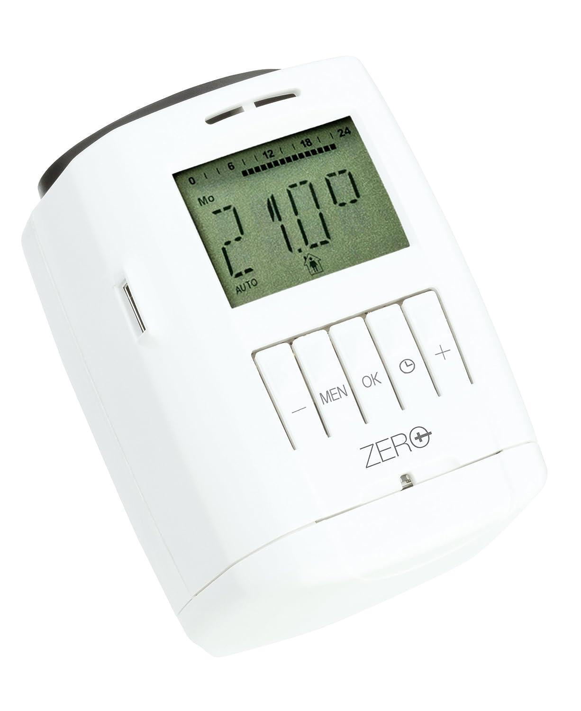 eurot Ronic SPARmatic Zero S/électeur d/économie d/énergie; programmation /électronique avec cl/é USB//radiateur Thermostat avec port de programmation/ /Blanc