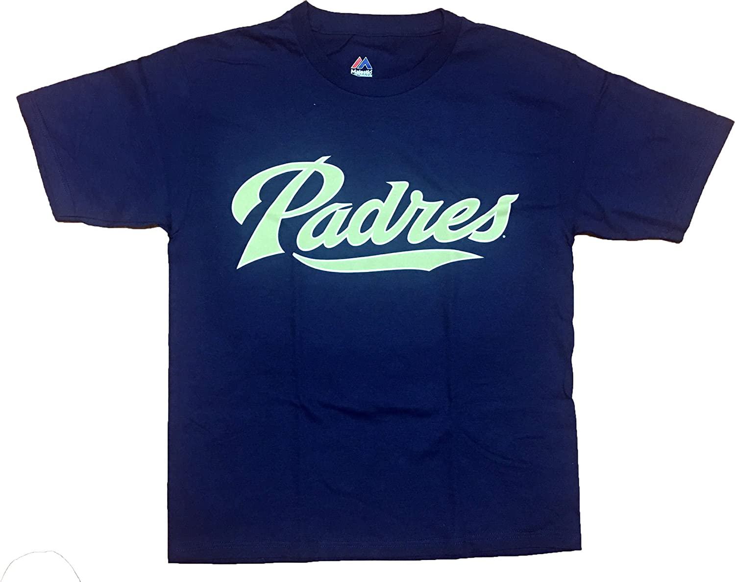 XL Majestic San Diego Padres 100/% Cotton Crewneck MLB Officially Licensed Youth Replica T-Shirt