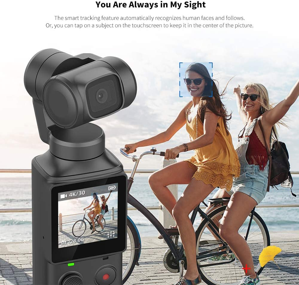 Attachable to Smartphone Android USB-C iPhone XiaoMi MI FIMI Palm Handheld 3 Axis Gimbal Stabilizer with Integrated Camera