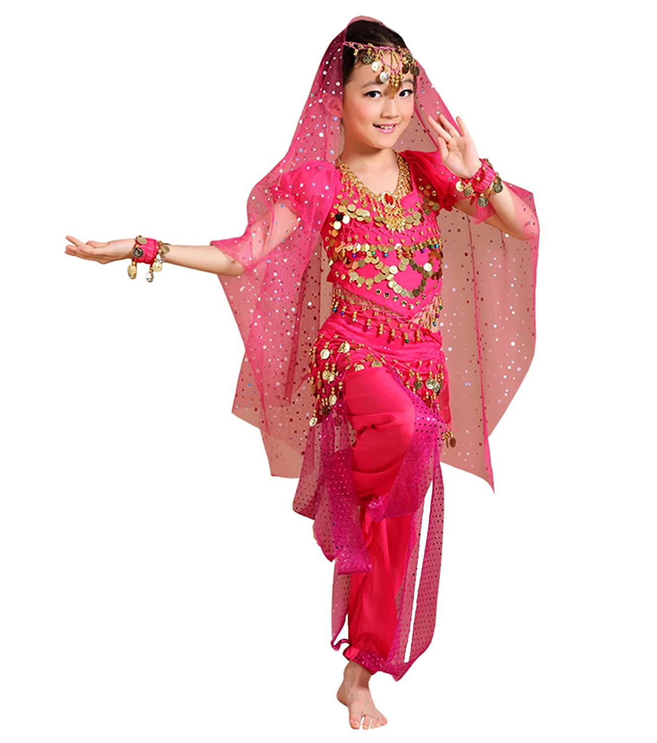 285de36808ce Amazon.com: Astage Children Indian Belly Dance Girl Costume Halloween  Performance Sets: Clothing