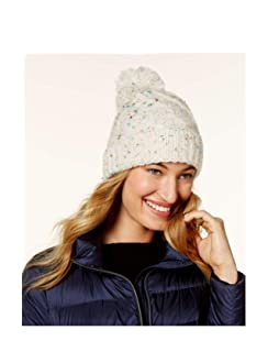 18a108af14900 Steve Madden Speckled Cable Beanie (Ivory)
