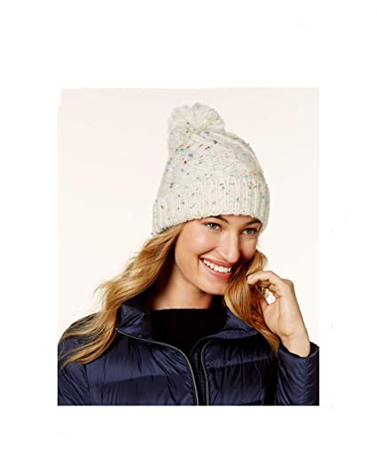 Steve Madden Speckled Cable Beanie (Ivory) at Amazon Women s ... cac49ed4f87