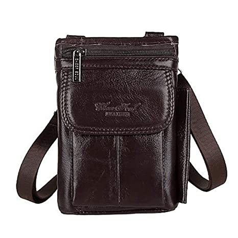f7449976f1f 2019 New Fashion Genuine Real Leather Men Shoulder Bag Travel Messenger  Small Bags Male Hip Belt