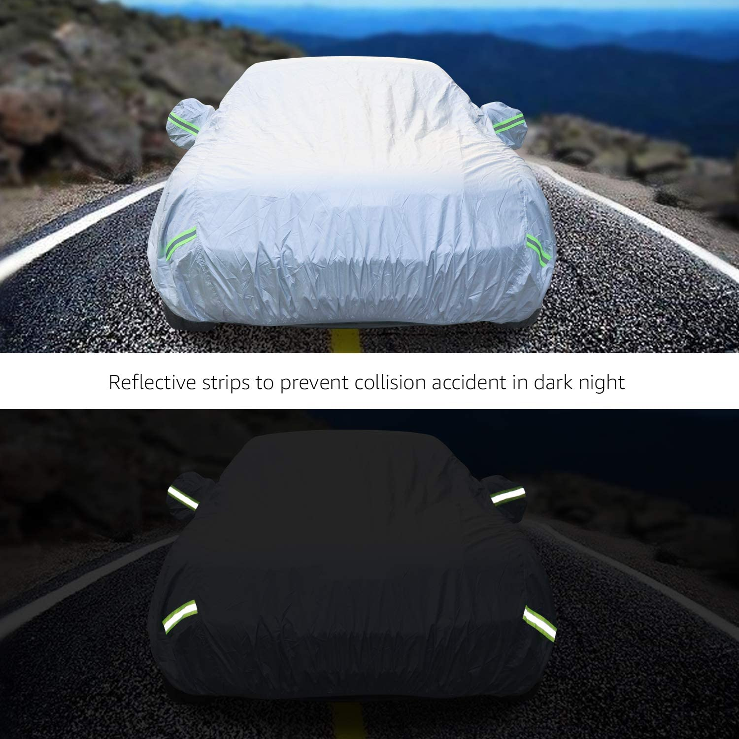 SUVs up to 193 Basics Silver Weatherproof Car Cover PEVA with Cotton