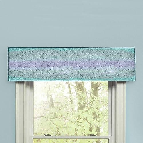 Donna Sharp Valance – Summer Surf Coastal Decorative Window Treatment with Blue Pattern