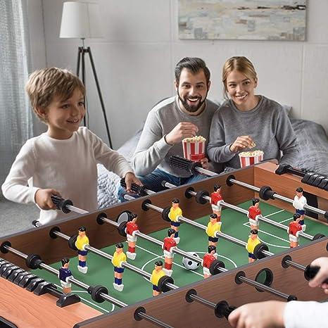 Home Family Party Juego de competición para niños y Adultos, Mesa giratoria 4 en 1 con diseño de Hockey y Billar, para Jugar al Tenis de Mesa: Amazon.es: Deportes y aire libre