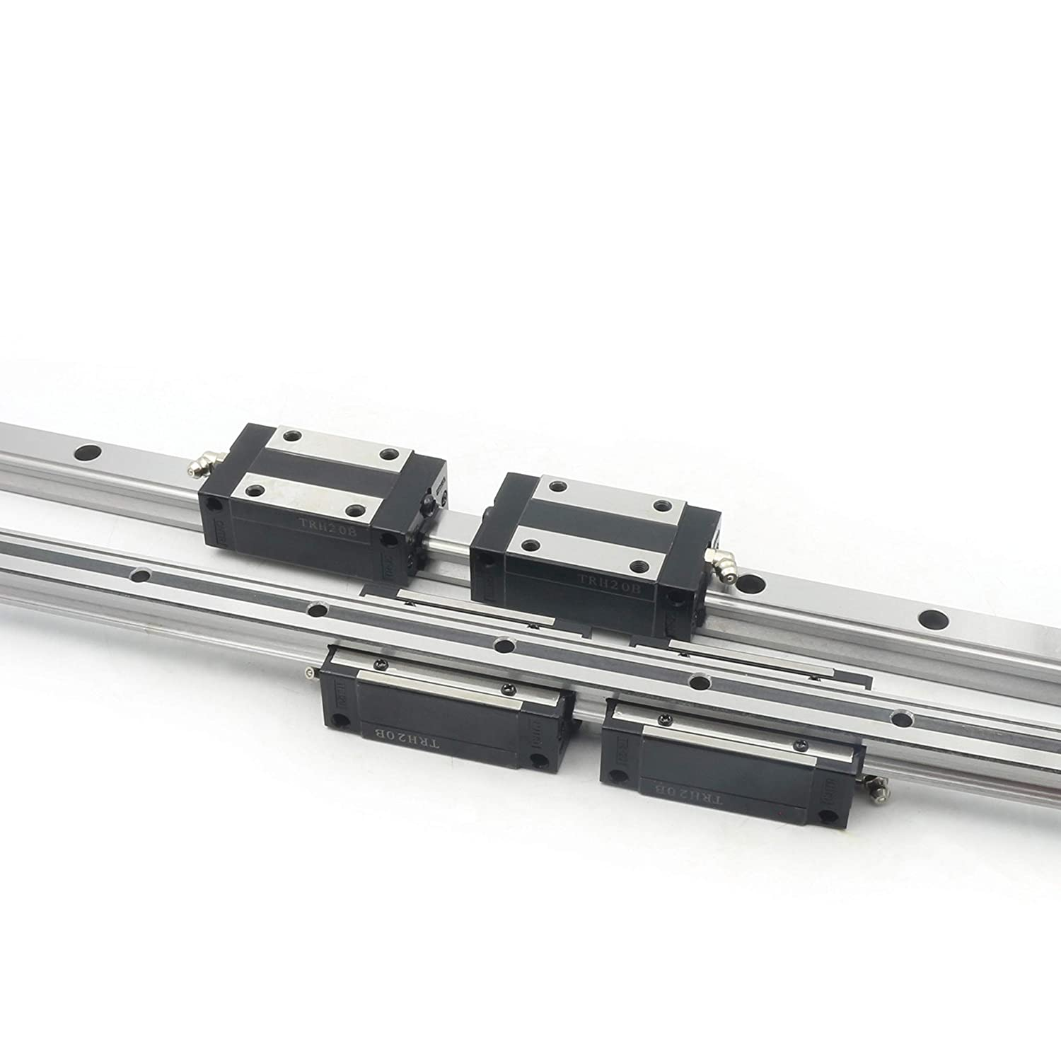 20mm Square Linear Guide Rail L800mm with 2pcs Slider Carriage Block CNC Router