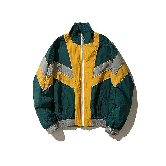 Botia Color Block Batwing Sleeve Chaqueta para Hombre Autumn Streetwear Hip Hop Chaquetas: Amazon.es: Ropa y accesorios