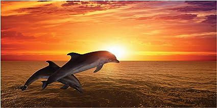 70x140 cm Sirene con Delfini LimeWorks Telo Bagno per Bambini