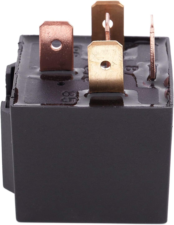 Moligh doll 40A 12V 5 Pins SPDT Truck Auto Car Alarm Audio Relay JD1914 Black