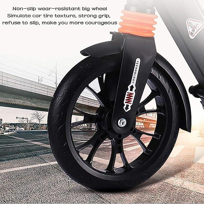 Patinetes de tres ruedas Scooters Negros con Doble Freno ...