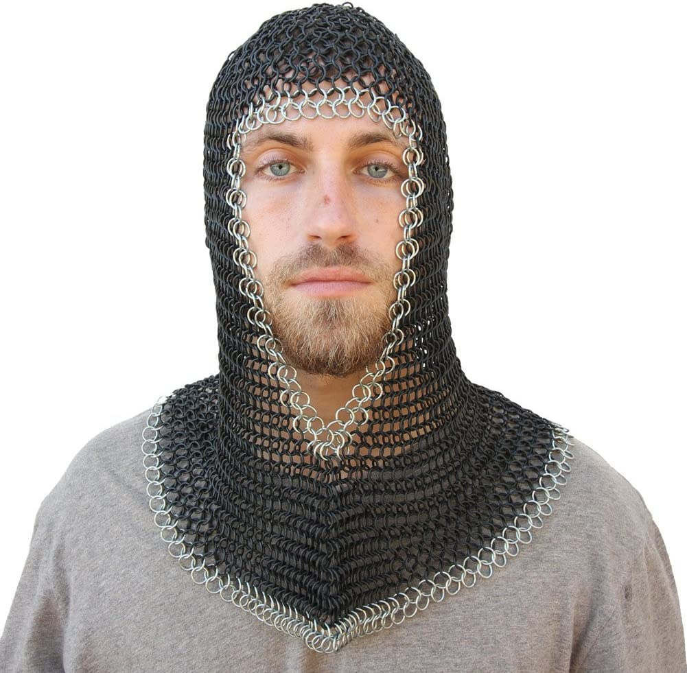 Chainmail Coif For Sale Chain Coif Armor Chain Mail Hood Clothing Birthday Gift