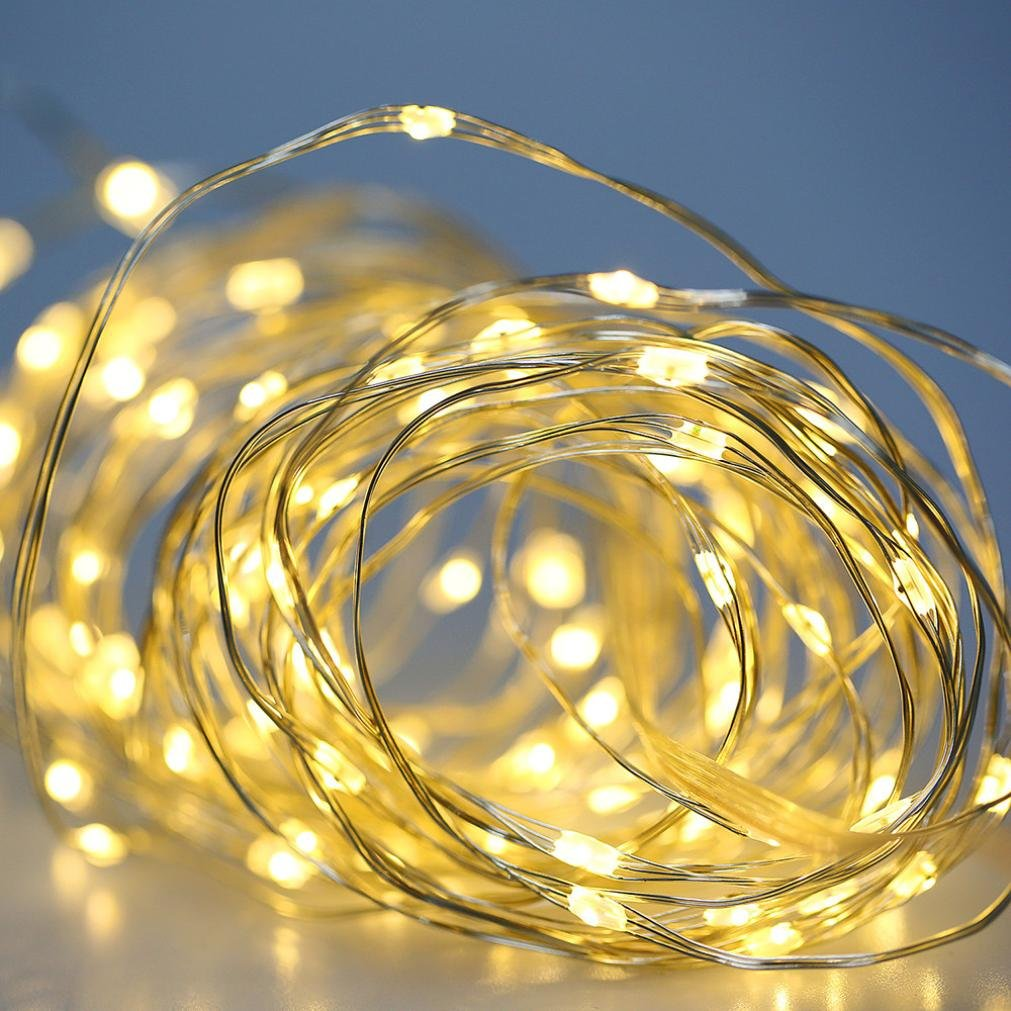 LiPing 5M 50LED Variable Brightness Waterproof Remote Control Settings String Lights for Christmas, Weddings,Garden, Outdoor use ideals Go On Your Bike, Truck. (A) by LiPing (Image #5)
