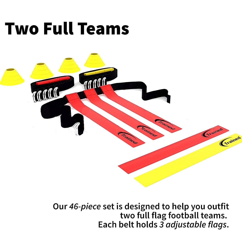 amazon com trained flag football set 10 man set premium