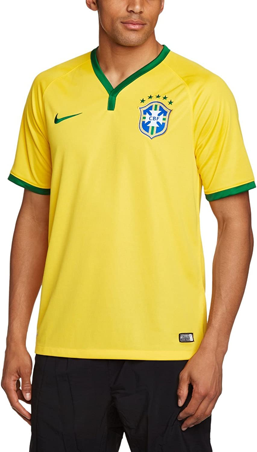 Nike Brazil Youth Home Soccer Stadium Jersey