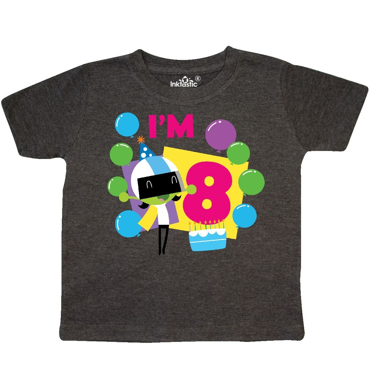 PBS Kids inktastic Im 8 with Dee and Balloons Toddler T-Shirt