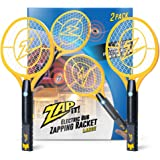 ZAP IT! Bug Zapper Twin Pack - Rechargeable Mosquito, Fly Killer and Bug Zapper Racket - 4,000 Volt - USB Charging…