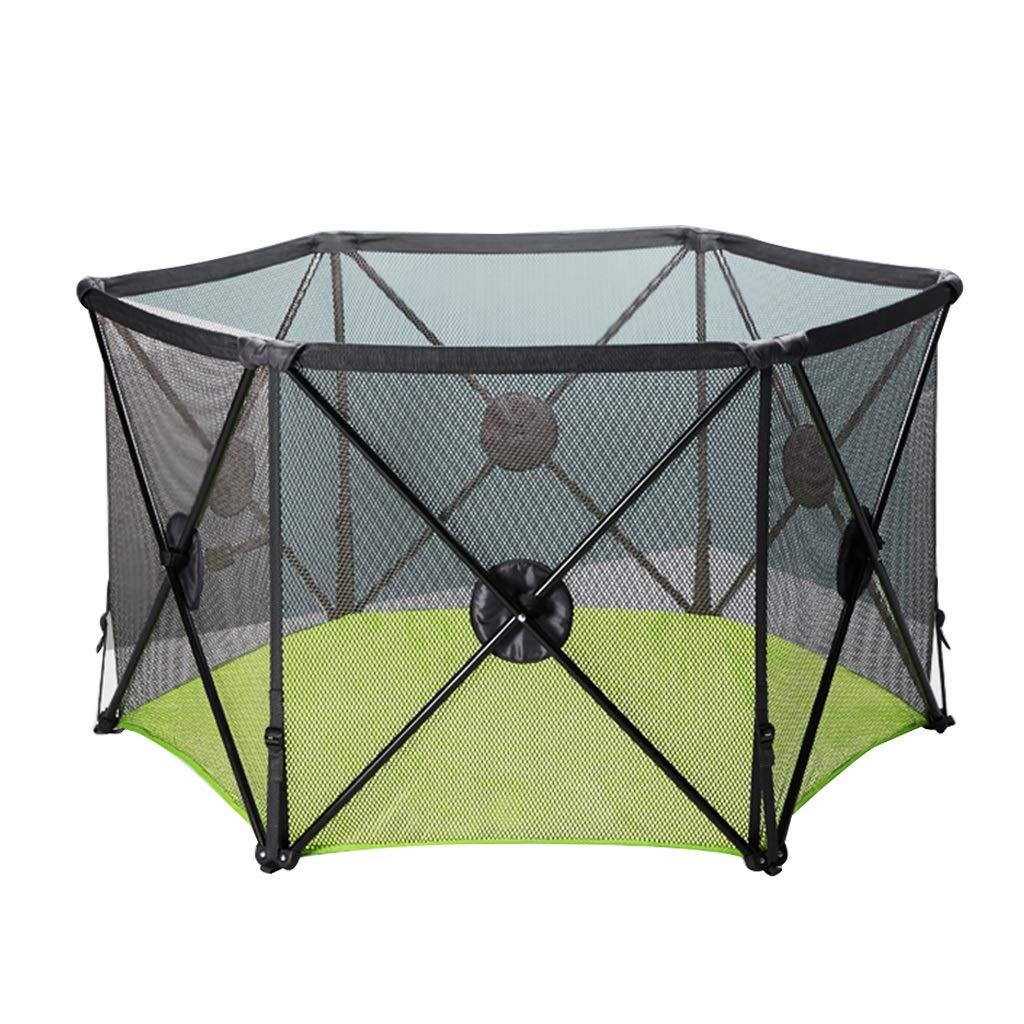 ゲームフェンス子供の安全プレイフェンスホーム折りたたみゲームプレイペンゲームプール屋内プレイグラウンド (Color : Black, Size : 135.5x135.5x78.5cm) 135.5x135.5x78.5cm Black B07LGZ1SV5