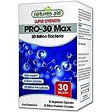 Natures Aid PRO-30 Max (30 Billion Daily Probiotic) - Pack of 30 Vegetarian Capsules