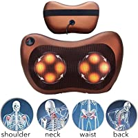 Techtest 8 Drive Car Seat Pillow Massager For Body Pain Relief Shiatsu Neck Back Foot Spa Self Rotating And Electric Massage Backpain Cervical Shoulder Kneading