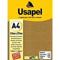 Papel Kraft Folha Usável 180g, Caixa com 50, Filiperson, 25016, Natural