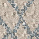 Gathered Bedskirt Medina Swedish Blue Diamond Geometric Cotton