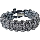 ParaOne- Paracord Bracelet | Premium Survival Bracelet With Firestarter Buckle, Whistle, Mirror, Snare Wire, Fire Tinder, Fishing Line | Made In The USA