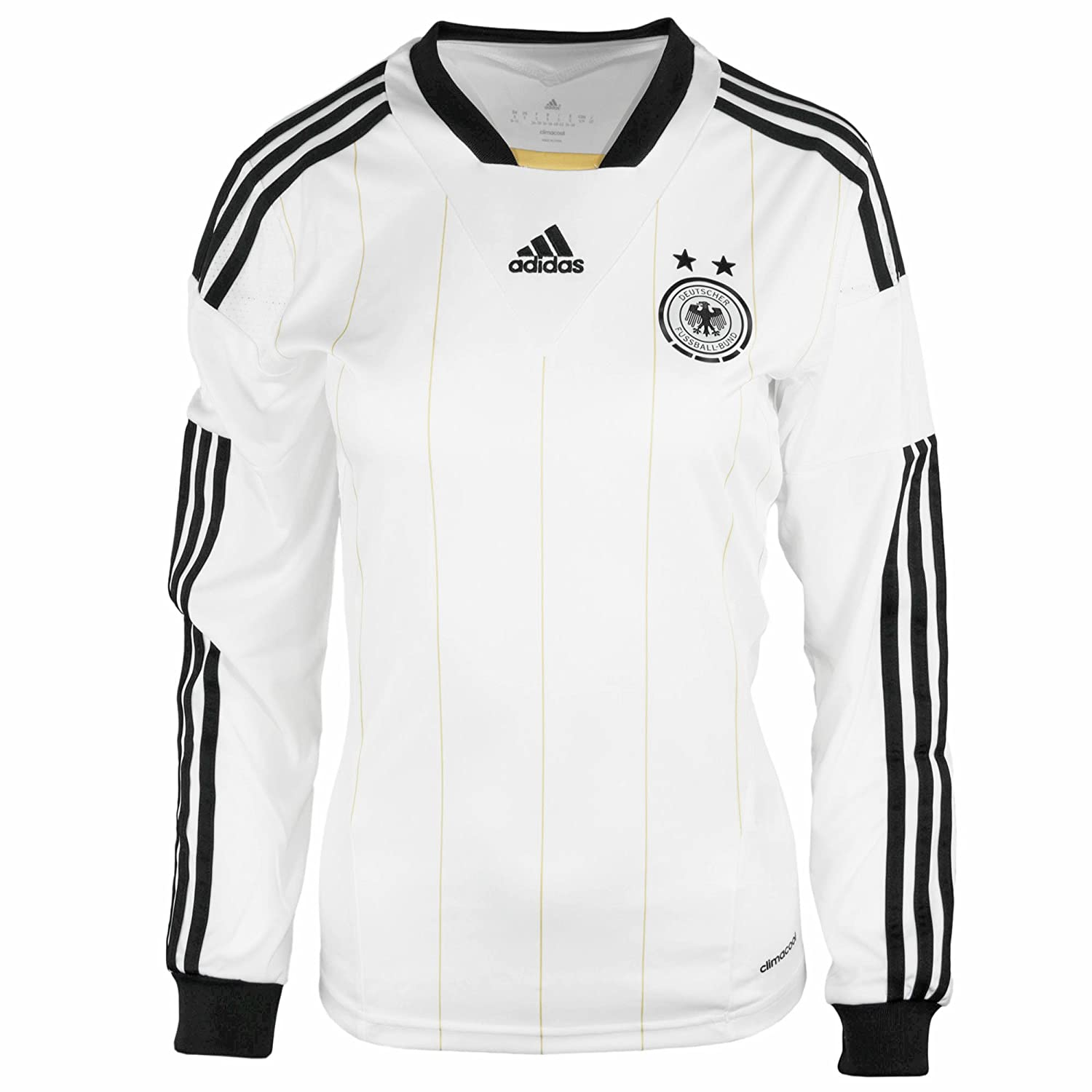 Adidas Germany womens long sleeve dfb home football shirt size large 16-18 Z53411